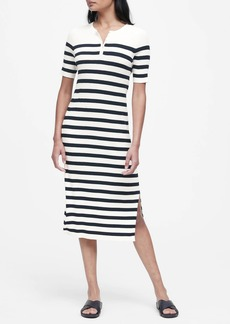 Banana Republic Stripe Henley Knit Dress