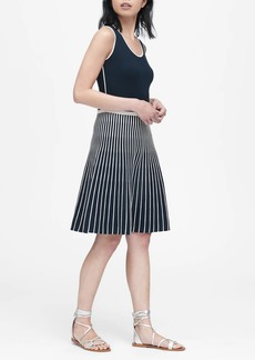Banana Republic Stripe Knit Fit-and-Flare Dress