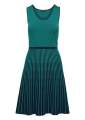 Banana Republic Stripe-Knit Fit-and-Flare Dress