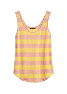 Banana Republic Stripe Linen Tank