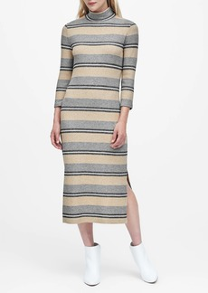 Banana Republic Stripe Luxespun Turtleneck Dress