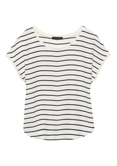 Banana Republic Stripe Picot-Trim Top