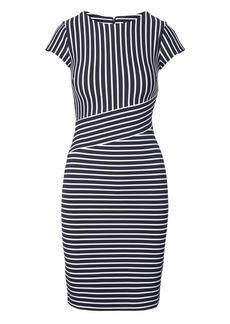 Stripe Ponte Sheath Dress