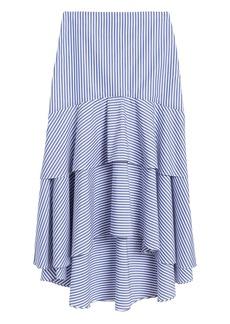 Banana Republic Stripe Poplin High-Low Skirt