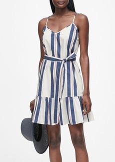 Banana Republic Stripe Poplin Mini Dress