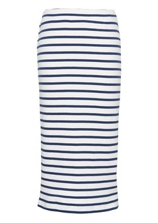 Banana Republic Stripe Ribbed Midi Pencil Skirt