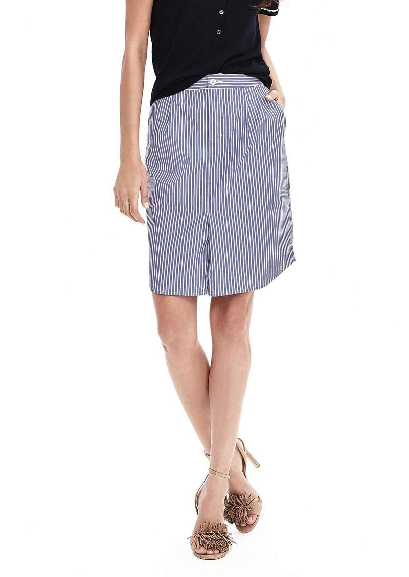 Banana Republic Stripe Shirttail Pencil Skirt