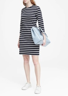 Banana Republic Stripe Ponte T-Shirt Dress