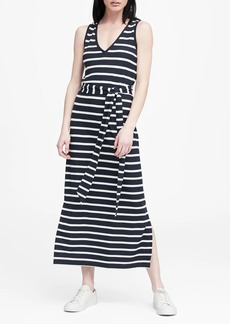 Banana Republic Stripe Soft Ponte Tank Dress