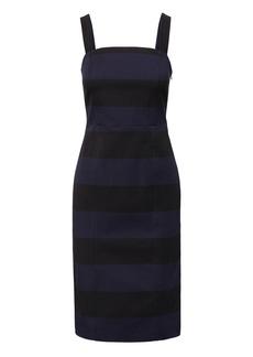 Banana Republic Stripe Square-Neck Bi-Stretch Sheath Dress