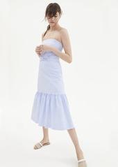 Banana Republic Stripe Super-Stretch Midi Dress with Removable Straps