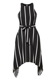 Banana Republic Stripe Tie-Waist Fit-and-Flare
