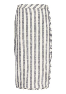 Banana Republic Stripe Tweed Pencil Skirt