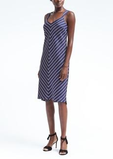 Stripe Wide-Strap Slip Dress