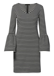 Banana Republic Striped Ponte Bell-Sleeve Shift Dress