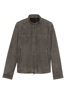 Banana Republic Suede Moto Bomber Jacket