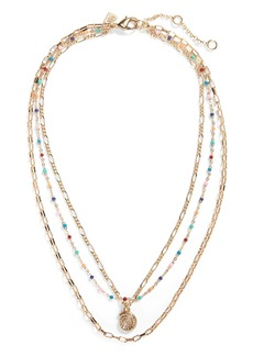 Banana Republic Summer Beads Triple Necklace