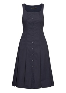 Banana Republic Super-Stretch Button-Down Fit-and-Flare Dress