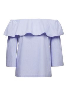 Banana Republic Super-Stretch Flounced Off-the-Shoulder Top