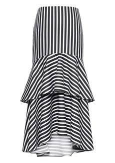 Banana Republic Super-Stretch High-Low Midi Skirt