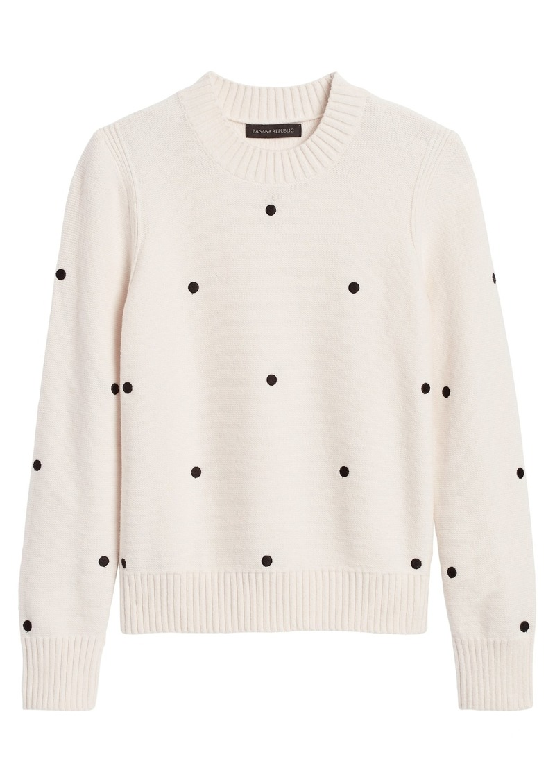 Banana Republic Supersoft Cotton Embroidered Sweater