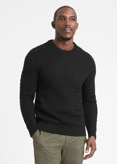 Banana Republic SUPIMA® Cable-Knit Sweater