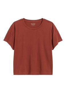 Banana Republic SUPIMA® Cotton Boxy Cropped T-Shirt