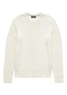 Banana Republic SUPIMA® Cotton Cable-Knit Crew-Neck Sweater