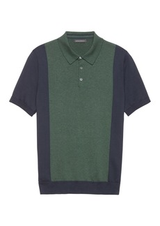 Banana Republic SUPIMA® Cotton Color-Blocked Sweater Polo