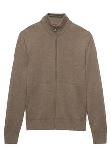 Banana Republic SUPIMA® Cotton Full-Zip Sweater Jacket