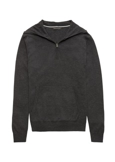 Banana Republic SUPIMA® Cotton Half-Zip Sweater Hoodie