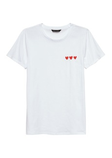 Banana Republic SUPIMA® Cotton Heart Graphic T-Shirt