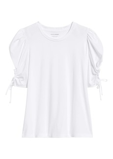 Banana Republic SUPIMA® Cotton Puff-Sleeve Top