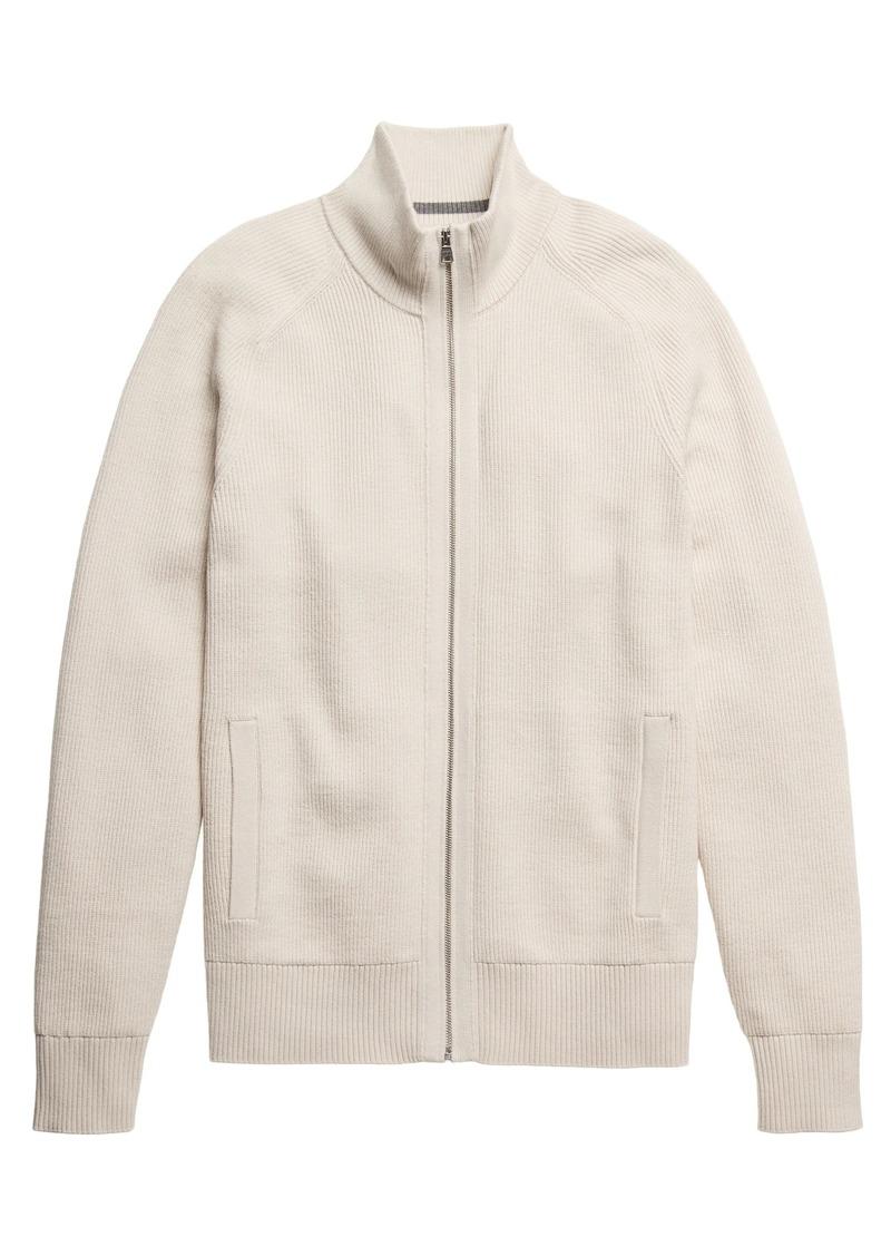 Banana Republic SUPIMA® Cotton Ribbed Sweater Jacket