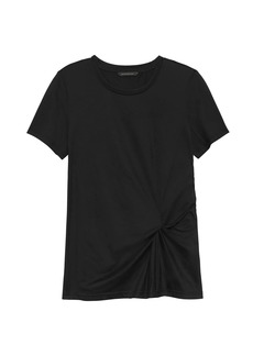 Banana Republic SUPIMA® Cotton Side-Twist T-Shirt