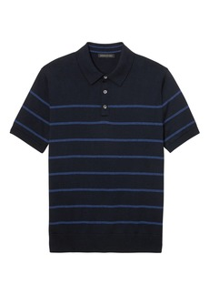 Banana Republic SUPIMA® Cotton Stripe Sweater Polo