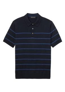 Banana Republic SUPIMA® Cotton Stripe Sweater Polo