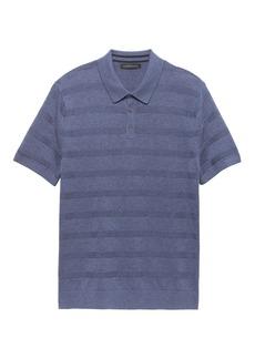 Banana Republic SUPIMA® Cotton Texture Stripe Sweater Polo