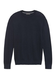 Banana Republic SUPIMA® Cotton Textured Crew-Neck Sweater