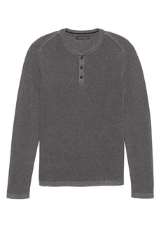 Banana Republic SUPIMA® Cotton Textured Henley Sweater