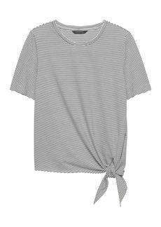 Banana Republic SUPIMA® Cotton Tie-Front T-Shirt
