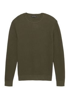 Banana Republic SUPIMA® Cotton Waffle-Knit Crew-Neck Sweater