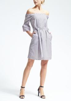 Swiss Dot Off-Shoulder Dress
