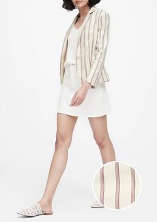 Banana Republic Tailored-Fit Linen-Blend Blazer