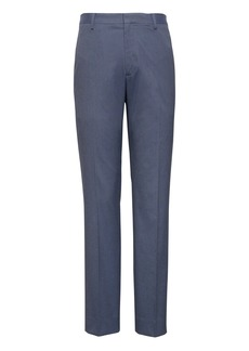 Banana Republic Tapered Non-Iron Stretch Cotton Houndstooth Pant