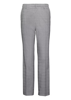 Banana Republic Tapered Non-Iron Stretch Cotton Plaid Pant