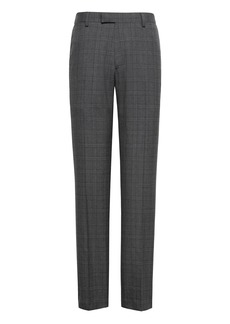 Banana Republic Tapered Plaid Smart-Weight Performance Wool Blend Suit Pant