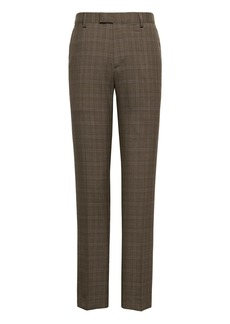 Banana Republic Athletic Tapered Plaid Smart-Weight Performance Wool Blend Suit Pant