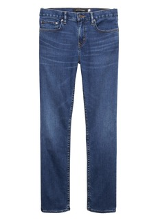 Banana Republic Athletic Tapered Rapid Movement Denim Medium Wash Jean