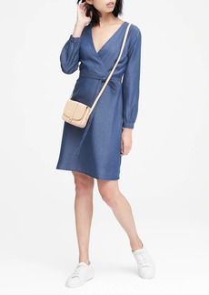 Banana Republic TENCEL™ Chambray Wrap Dress